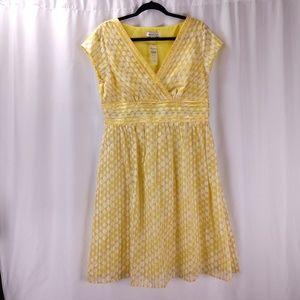 Coldwater Creek Empire Waist Polka Dot Dress